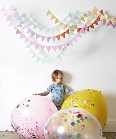 Confetti filled #balloons perfect for kids parties #PartyDecor #confetti