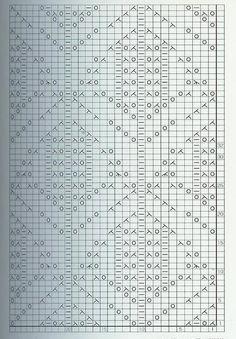 Кружева вязание стежка 2