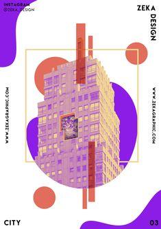 City Poster Design 03 Collection Minimalist and Creative Art Inspiration Zeka Design - Digital Art Poster Design based on City and Minimalism Building Architecture style, creative and fu - Design Typography, Graphic Design Posters, Typography Poster, Graphic Designers, Simple Poster Design, Digital Collage, Collage Art, Digital Art, Art Illustration Vintage