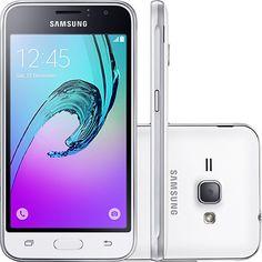 Smartphone Samsung Galaxy J1 2016 Dual Chip Desbloqueado Android 5.1 4,5  8GB 3G Wi-FI Câmera 5MP - Branco
