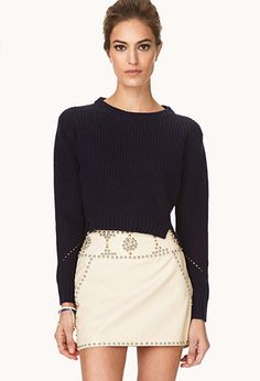 Out West Studded Mini Skirt | FOREVER21 - 2000125727 #ForeverHoliday Too cute!  Glamorous.  Feminine with an edge!