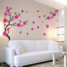 Beautiful pink decoration sticker / Kaunis vaaleanpunainen sisustustarra