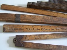 Old Advertising Rulers....Available at American Home & Garden in Ventura CA