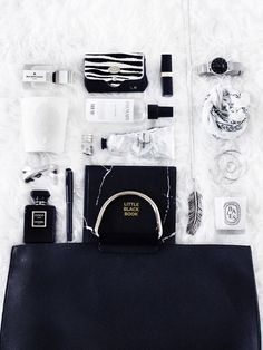 Bag-explosion-flatlay-beauty-products