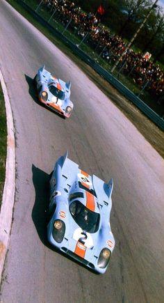 Two Gulf Porsche 917 • Monza 1971