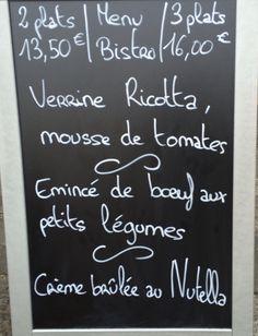 Formule du midi de la Brasserie Martin