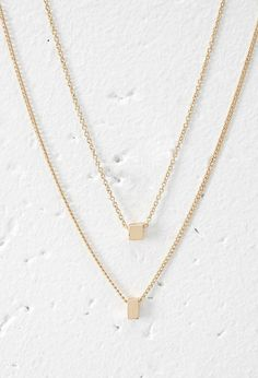 Cube Charm Necklace Set | Forever 21 Canada