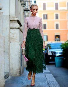 Tati wears Valentino at Valentino's Marabilia Romae show