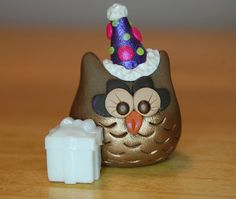 polymer clay owl Roxy the owl Happy Birthday by SMarrtCreations, $8.00