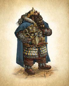 Dwarf King by Artigas on DeviantArt Fantasy Dwarf, Fantasy Armor, Medieval Fantasy, Character Concept, Character Art, Concept Art, High Fantasy, Fantasy World, D D Characters