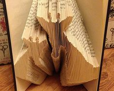 "Book Folding Pattern ""Mum and baby Giraffes"" +FREE TUTORIAL"
