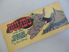 Vintage Disney Walt Disney Productions Comic Book DUMBO and the CIRCUS MYSTERY Issue Y3 Cheerios Cereal Premium 1947