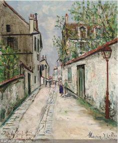 Maurice UTRILLO - Rue du Mont-Cenis à Montmartre