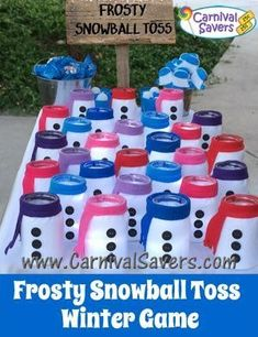 Frosty Snowball Toss Winter Carnival Game