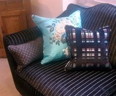Fun and funky!!! Mark Elliot Fitzwilliam sofa in Kobe Chic fabric with Designers Guild scatters. Styled by Gill Cattroll