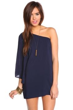 Serious Flare Dress - Navy - StyleSays