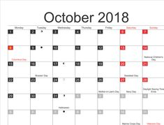 Moon Calendar October 2018 Moon Calendar 2018 October Moon Calendar October 2018 New Moon Calendar October 2018 Phases of the Moon Calendar 2018 October Related New Moon Calendar, Calendar 2018, Friday Saturday Sunday, Monday Tuesday Wednesday, Full Moon Phases, Bosses Day, Sweetest Day, October