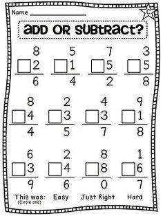 Grade Math Unit 8 Choosing an operation - add or subtract - differentiated worksheetsChoosing an operation - add or subtract - differentiated worksheets Math For Kids, Fun Math, Math Activities, Math Games, Multiplication Games, Math Classroom, Kindergarten Math, Teaching Math, Math Stations