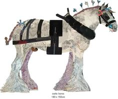 Horse Collage by Peter Clark