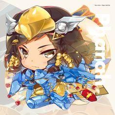 Chibi Pharah by hecoheio on DeviantArt Overwatch Widowmaker, Overwatch Symmetra, Overwatch Drawings, Starcraft, Fantastic Art, Paladin, Mini, Comic Art, Artwork