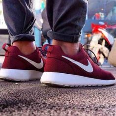 Burgundy Nike Roshe Runs NOT SELLING! I really need to find these shoes! If you or someone you know of has them please comment! Women's size 8! Nike Shoes