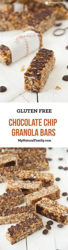 Gluten Free Chocolate Chip Granola Bars