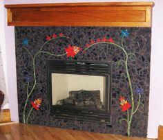 Bon Ton mosaic fireplace