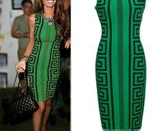 a80c53a7e06 Women Clothing Sexy Club Bandage Dress Green Geometric Print Elegant  Bodycon Pencil Dress XXXL Green Dress
