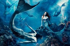 Annie Leibovitz's Disney Dream Portraits - Julianne Moore as Ariel in 'Where Another World is Just a Wish Away.'