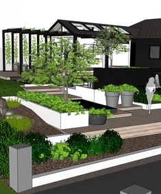 243 Likes, 18 Comments - Therese Knutsen ( bythereseknutsennoHave a slope in your garden? Use different levels, hights, and materials to create zones and visual interest🌿:-) Pergola, Gazebo, Zen Garden Design, Garden Design Plans, Terrace Decor, Terrace Garden, House Landscape, Landscape Design, Outdoor Living Rooms