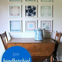 DIY Handkerchief Wall Art