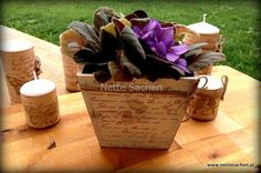 Blumentopf Vintage SCHRIFT - Nette Sachen