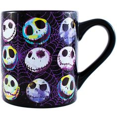 Disney NB110132G Nightmare Before Christmas Colorful Web Glitter... ($9.99) ❤ liked on Polyvore featuring home, kitchen & dining, drinkware, glitter mugs, xmas mugs, christmas mugs, ceramic mugs and colourful mugs