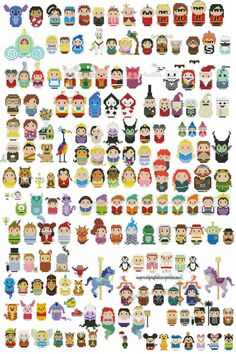 Disney Cross stitch!! I found these and just love them. I want to try these using Hama beads