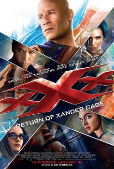 xXx: Return of Xander Cage (January 20, 2017) directed by D.J. Caruso. Producers; Vin Diesel, Samantha Vincent, Joe Roth, Neal H. Moritz, Jeff Kirschenbaum. Stars: Vin Diesel, Donnie Yen, Deepika Padukone, Kris Wu, Ruby Rose, Tony Jaa, Nina Dobrev, Toni Collette, Samuel L. Jackson. Daredevil operative Xander returns from self-imposed exile, to recover a weapon known as Pandora's Box. A device that controls every military satellite in the world. He faces a deadly conspiracy in government.