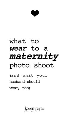 What to wear to a maternity photo shoot. And what your husband should wear, too. Pregnancy photography, #maternity pictures, #pregnancy portraits