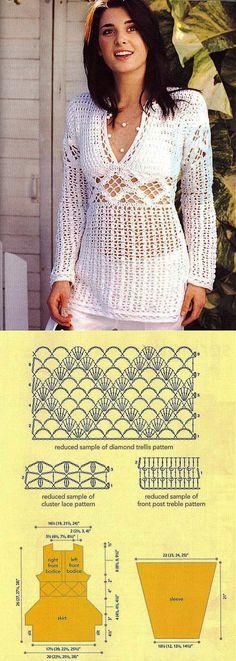 Suéter blanco con esquema                                                                                                                                                                                 Más