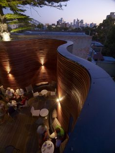 Blues point hotel outdoor terrace by Carter Williamson Architects