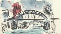 Brussels canal - sketched on location | Skillshare Projects