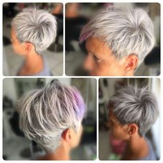 Kurzhaar asymetrisch metallic - Bunte Haar Diy - Kurzhaar asymetrisch metallic Kurzhaar asymetrisch metallic The post Kurzhaar asymetrisch metalli - Short Cropped Hair, Funky Short Hair, Super Short Hair, Short Grey Hair, Short Hair Cuts For Women, Short Hair Styles, Haircuts For Fine Hair, Cute Hairstyles For Short Hair, Diy Hairstyles