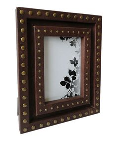 Look what I found on #zulily! Studded Leather Photo Frame #zulilyfinds
