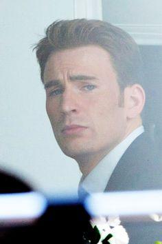 Chris Evans on set of Captain America: Civil War in Atlanta