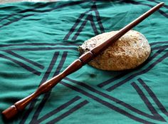 Spun Walnut Wand by GeekyGaeaDesigns on Etsy