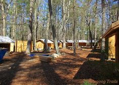 Work is well underway at the new staff village in Camp Medicine Bow at #Yawgoog!  Image taken on April 24, 2016, by David R. Brierley.