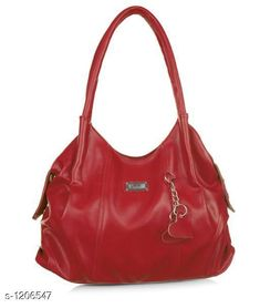Handbags Slinky Women's Handbag  *Material* Outer Material- PU Leather, Inner Material- Silk Cloth  *Dimensions* ( H X L X W ) - 27 cm x 40 cm x 12 cm  *Strap Type* Double Handle  *Compartments* 1  *Pockets* 3  *Closure* Zipper  *Description* It Has 1 Piece Women's Handbag  *Pattern* Solid  *Sizes Available* Free Size *   Catalog Rating: ★4 (208)  Catalog Name: Stylish PU Leather Women's Handbags Vol 15 CatalogID_151535 C73-SC1073 Code: 793-1206547-