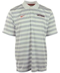 Nike Men's Connecticut Huskies Dri-fit Preseason Polo Shirt - White S