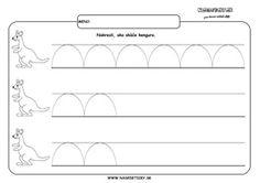 Kengura - grafomotorika - pracovný list pre deti