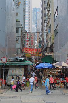 Streets of old Hong Kong