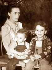 Leonora Carrington with her children