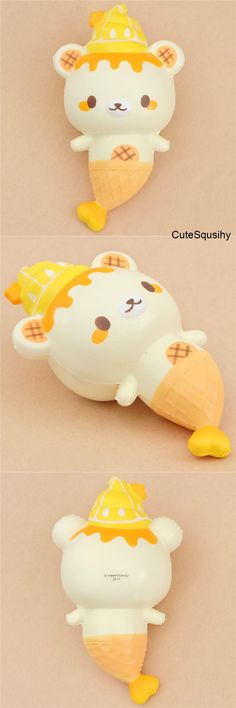 Kawaii Puni Maru Yumiibear mermaid dripping lemon sauce squishy!